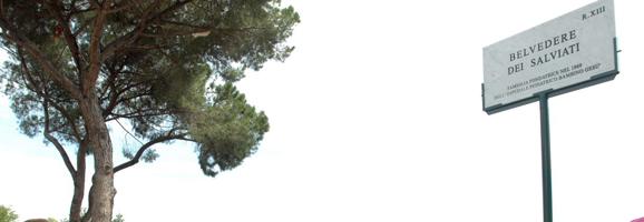 """Inaugurazione della targa toponomastica """"Belvedere Salviati"""""""