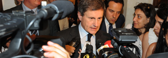 Alemanno, Oprescu e Pecoraro: incontro con la stampa