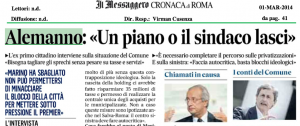 Intervista Messaggero