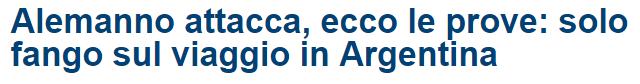 Alemanno attacca  ecco le prove  solo fango sul viaggio in Argentina   Secolo d Italia